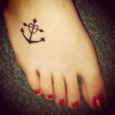 Faith - cross. Hope - anchor. Love - heart  This is a possible tattoo for me. I love it