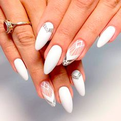 Are you looking for short and long almond shape acrylic nail designs? See our co… Are you looking for short and long almond shaped acrylic nail designs? Take a look at our collection of short and long almond shaped acrylic nail designs and be inspired! Almond Shape Nails, Almond Acrylic Nails, Nails Shape, Almond Nails, Acrylic Nail Designs, Nail Art Designs, Nails Design, Nailed It, Indigo Nails