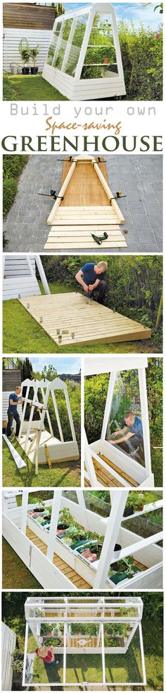Tomatoes, cucumbers und herbs will grow easier in a greenhouse. But a greenhouse doesn't have to be very big. You can build a small version of a conservatory by yourself. And we are certain you will find room for this space-saving hothouse in your garden.