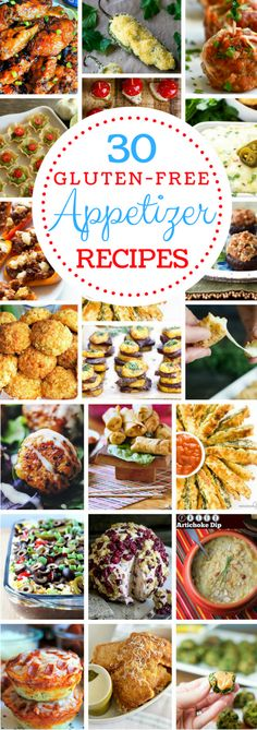 30 Gluten-Free Appetizer Recipes #glutenfree #appetizers #partyfood