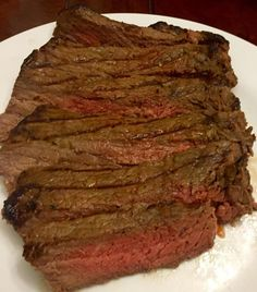 This is a simple yet flavorful way that I love to make London Broil. London broil is a very lean cut of meat. Marinading is one of the best ways to tenderize and add flavor to this cut of meat. London Broil Marinade, London Broil Steak, Cooking London Broil, London Broil Recipes, Chuck Roast Grilled, Beef Chuck Roast, Onion Soup Recipes, Crockpot Recipes, Cooking Recipes