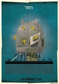 011_ARCHIDIRECTOR_Jacques Tati Art Print