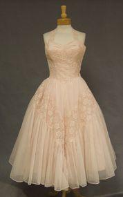 Exquisite Will Steinman Pink 1950's Halter Cocktail Dress
