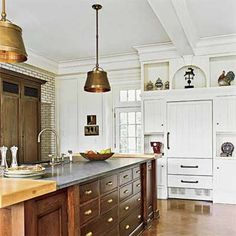 Click here for standard rules of thumb for hanging pendant lights over your kitchen island. | Photo: Paul Whiceloe | thisoldhouse.com