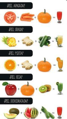 Toma un jugo de éstos y verás como mejora tu piel.