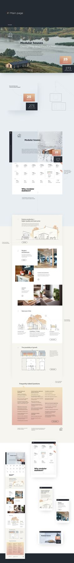 Modular frame houses website concept.