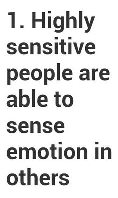 Highly Sensitive Person | Highly sensitive people