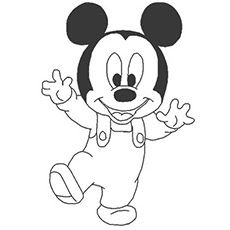Coloring Mickey Mouse