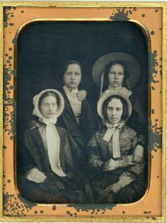 Early Victorian ladies.