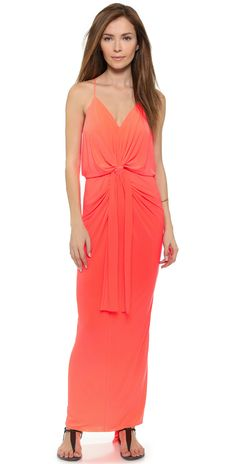 Tbags Los Angeles Maxi Dress With Knot Detail | SHOPBOP