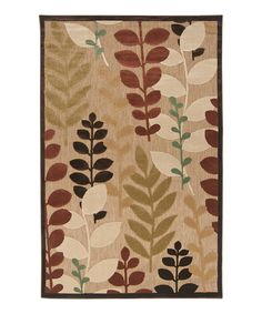 Take a look at this Portera Fern Indoor/Outdoor Rug on zulily today!
