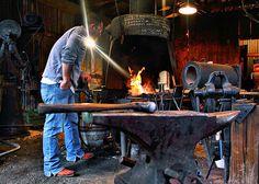 Bigorna usada no trabalho dos ferreiros.