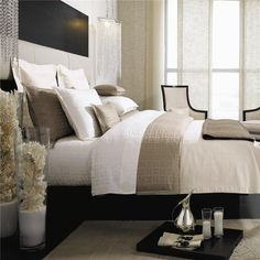 Oh, so modern and sleek with black & white with taupe colors.................