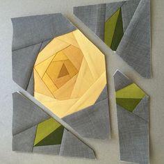 Rose paper piecing | Craftsy