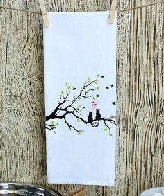 Love this Love Cats on Tree Hand Towel on #zulily! #zulilyfinds