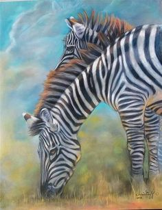 "Daily+Paintworks+-+""Zebra""+-+Original+Fine+Art+for+Sale+-+©+emily+Christoff-Flowers"