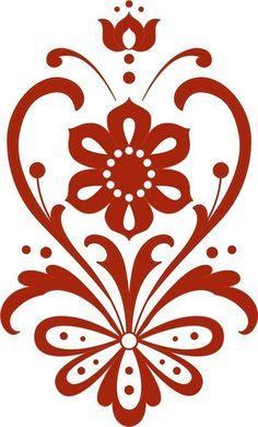 New Vintage Retro Style Antigua Ideas Stencil Patterns, Stencil Designs, Embroidery Patterns, Machine Embroidery, Stencils, Silhouette Design, Flower Silhouette, Arabesque, Design Elements