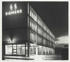 Siemens building in Richmond, Melbourne Australia Aug. 1963 by Mark Strizic., State Library of Victoria Richmond Melbourne, Melbourne Australia, Australian Art, My Town, Continents, Monochrome, Multi Story Building, Places, Photography