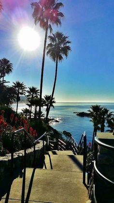 """""""The path to Paradise"""" at Laguna Beach, CA. Heisler Park,  Main Beach. Breath taking!"""