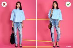 Elige pantalón de mezclilla y bolsas tomando en cuenta tu estatura