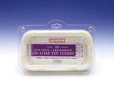 2lb Loaf Tin Liner - Pack of 40 - 20cm * Check out this great image @ : Baking pans
