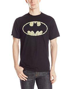 DC Comics Mens Batman Logo Bat Filled T-Shirt @ niftywarehouse.com #NiftyWarehouse #Batman #DC #Comics #ComicBooks