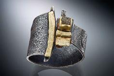 Ring | Nina Mann. Raw diamond, 22 & 18k gold, sterling silver.