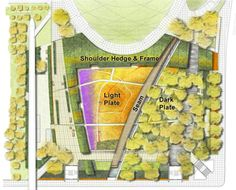 Fall planting plan for the Lurie Garden by landscape architects Gustafson Guthrie Nichol (GGN) with perennial plantsman Piet Oudolf.