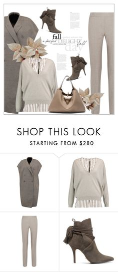 """Без названия #8346"" by bliznec ❤ liked on Polyvore featuring Rick Owens, Brunello Cucinelli, MM6 Maison Margiela, Schutz, Loewe and Fall"