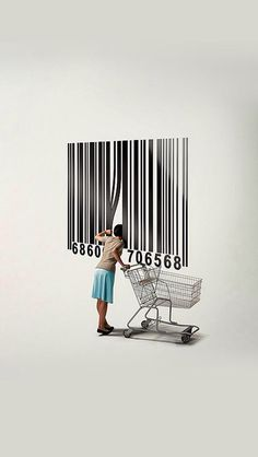 Ethical Consumerism: What's More Important, Values or Value? Barcode Art, Barcode Design, Graphic Design, Teaching Drawing, Consumerism, Banksy, Life Is Beautiful, Art Images, Best Quotes