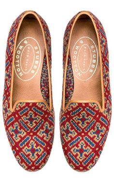 7f0961da9aa Stubbs   Wootton Cuenca Red Loafer by for Preorder on Moda Operandi · Womens  SlippersUgg SlippersBeautiful ShoesMe ...