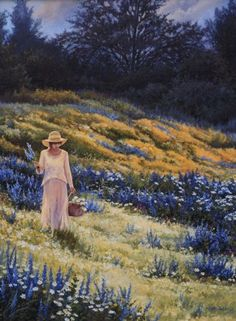 Country Blue - June Dudley Fine Art Paintings and Prints
