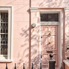 blush pink in Notting Hill, London