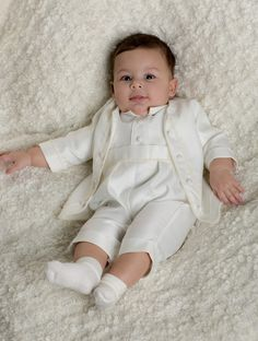 514e5711b1c Baby Boys 4 Piece Christening Outfit   Christening Suit White Check ...