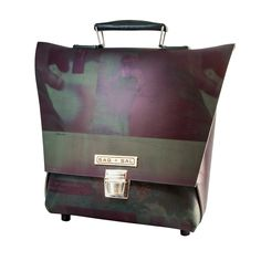 Office Briefcase Large bag with handle The material of this bag is reused printing blanket. During the printing process the blankets are exposed to. Eco Friendly Bags, Briefcase, Reuse, Suitcase, Printing Process, Blankets, Prints, Handle, Accessories