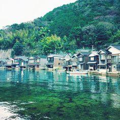 """和風ベネチア!水に浮かぶ京都の不思議な町""""伊根の舟屋"""""""