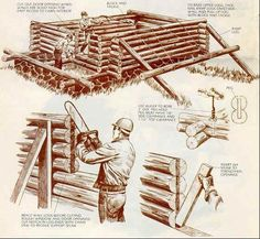 Build a log cabin