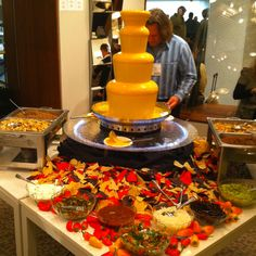 Whoa! Nacho fountain! This is definitely for me!