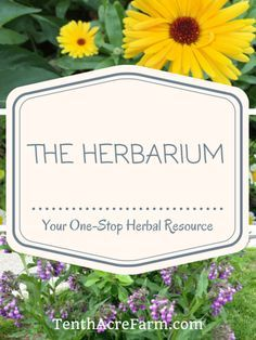 Your One-Stop Herbal Resource! Love this!