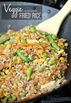 Homemade Veggie Fried Rice. A great meatless Monday dish where you can ...