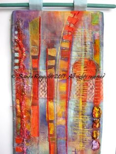 Abstract mini art quilt 1, Sanda Reynolds