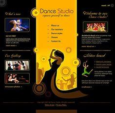Dance School Flash Templates by Delta Flash Templates, Psd, Ecommerce Website Design, Something About You, Dance Studio, Web Design Inspiration, Web Development, Your Design, Html