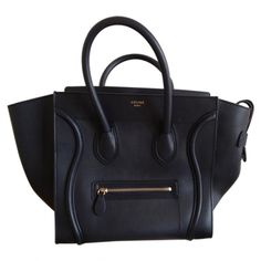 CELINE luggage blue handbag
