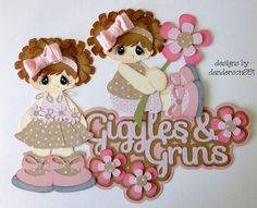 Giggles  Grins Paper Piecing Set PreMade Album Scrapbooks Borders danderson651