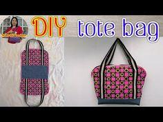 #DIY tote bag diy sewing tutorial Ring handle bag สอนทำกระเป๋าผ้า กระเป๋าหิ้ว รัชนี งานผ้า - YouTube