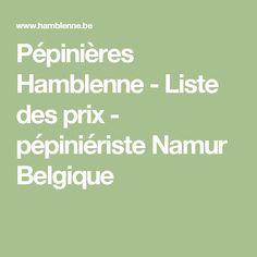 Pépinières Hamblenne - Liste des prix - pépiniériste Namur Belgique