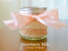 This is just delicious. Such a fun treat for the kids and Strawberry Milk is perfect for gift giving