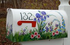 hand painted mailboxes | Hand Painted Mailbox Extra Large Size | Crafts - Painted Mailbox id…