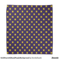 Gold Star with Royal Purple Background Bandana This design is available on many products! Hit the 'available on' tab near the product description to see them all! Thanks for looking!     @zazzle #art #star #pattern #shop #chic #modern #style #circle #round #fun #neat #cool #buy #sale #shopping #men #women #sweet #awesome #look #accent #fashion #clothes #apparel #earrings #headband #sunglasses #ties #belts #fingernail #black #blue #purple #orange #grey #gold