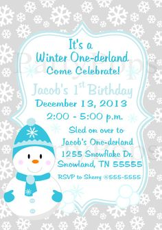 Winter One-derland Party Winter Wonderland Party by PartyPops